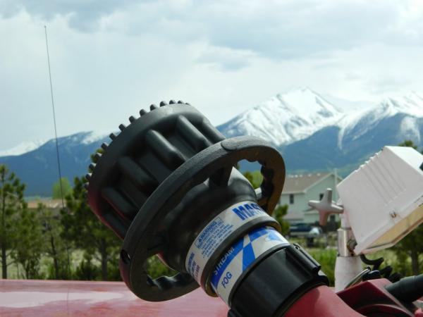 Station 3 - Gear with Mountains in the background